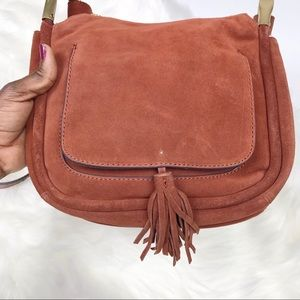Zara suede leather crossbody BOHO bag
